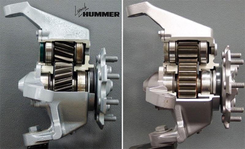 Portal Axle Design : Hummer h model year changes