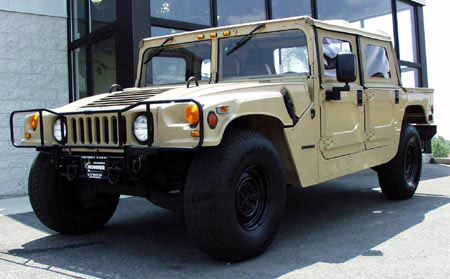 Tan Vlco on Hummer H1 Open Top